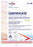 Certificate BS OHSAS 18001