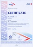 Certificate ISO 22000